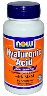 NOW Hyaluronic Acid 100мг 2x Plus (60 кап)