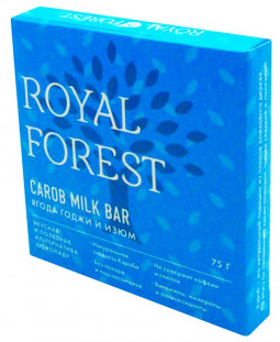 Royal Forest Carob Milk Bar (ягоды годжи и изюм) 75гр