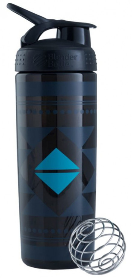 Шейкер BlenderBottle SportMixer Sleek черный Diamond Native Pattern (828 мл)