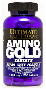 Аминокислоты Ultimate Nutrition Amino Gold 1000 mg (250 таб)