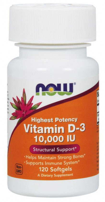 NOW Vitamin D-3 10000 М.Е. (120 кап)