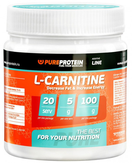 Pure Protein L-Carnitine (100г)