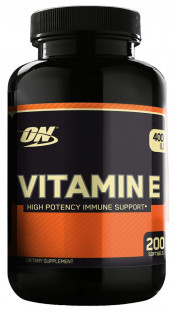 Optimum Nutrition Vitamin E (200 кап)